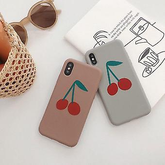 Cute Cherry Fruit Art Matte Phone Case