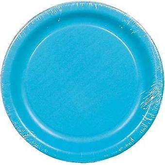 Plt7 12/8Ct Bermuda Blue Plates