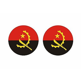 2x tarra pyöreä cocarde Angolan lippu