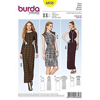 Burda symönster 6858 missar klänningar storlek 6-16 Euro 32-42