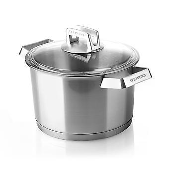 Mehrzer Premium - Hoge kookpan met deksel - 24 cm - RVS