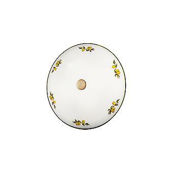 Kolarz NONNA - Hytte stil glass mønstret flush taklampe antikk messing, 2x E14