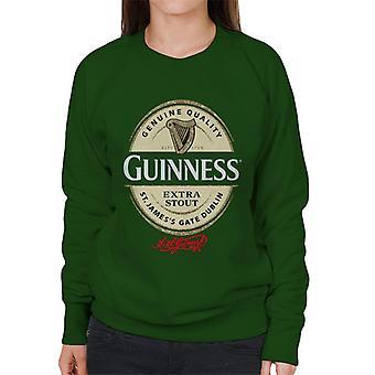 Guinness Extra Stout Label Logo Women's Sweatshirt