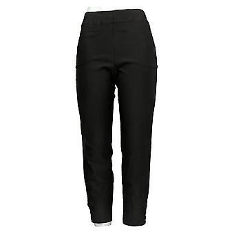 Susan Graver Women's Pants Petite Smooth Stretch Pull-On Black A384286