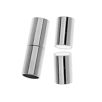 Magneettiset nastat, putkijohdon päät sopii 6,2mm johtoon, 1 sarja, hopeapinnoitettu
