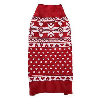 الكلب القط الملابس الحمراء ندفة الثلج عيد الميلاد سترة صغير