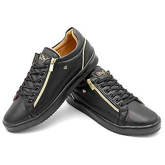 Sneakers - Zippers Black - Zwart