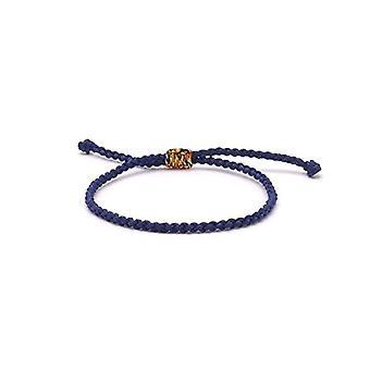 Benava - Tibetan Friendship Bracelet, handmade, adjustable and metal base, color: Blue, cod. 0054-Blau