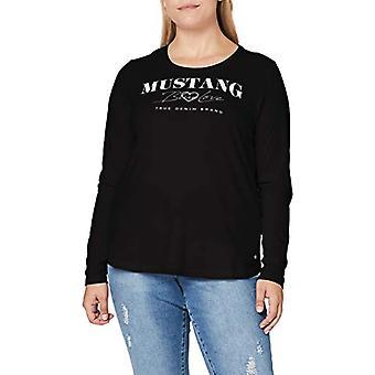 MUSTANG Anna C Print T-Shirt, Black, L Woman