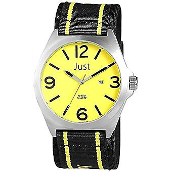 Just Watches 48-S3926-YL - Men's wristwatch, multicolor fabric strap
