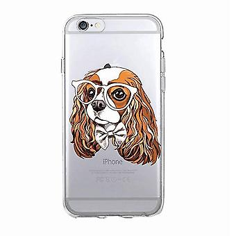 iPhone 12, 12 Pro & Max transparante shell hond met witte bril
