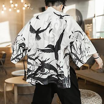 Giacca Kimono uomo, Giappone Harajuku Streetwear Samurai Clothes