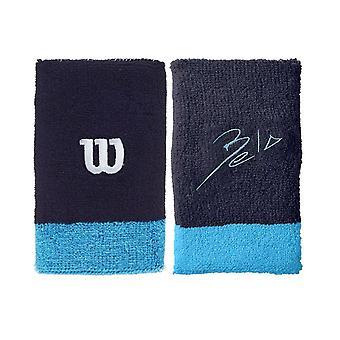 Wilson, 2x sweatband - Bela - Blå