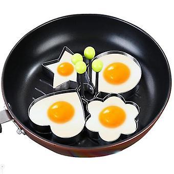 4 قطعة مجموعة من البيض الفولاذ المقاوم للصدأ، الفطائر القلي حلقات العفن