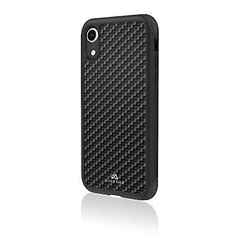 Black Rock - Robust real carbon cover för Apple iPhone XR, svart (1 TILLBEHÖR)