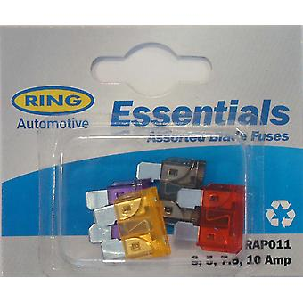 Ring Blade Fuses Blade Fuses 2, 5, 7.5, 10 Amp