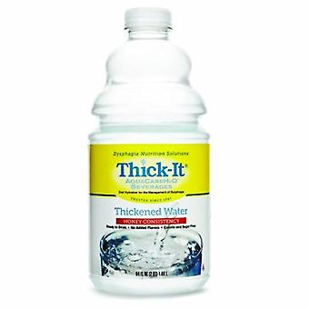 Thick-It Thickened Water Thick-It AquaCareH2O 64 oz. Container Bottle Unflavored Ready to Use Honey Consist, Thickened Water / Honey Case of 4