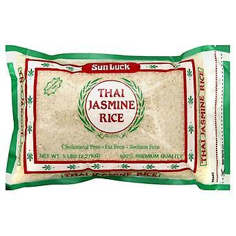 Sun Luck Rice Jasmine, Case of 6 X 5 lb