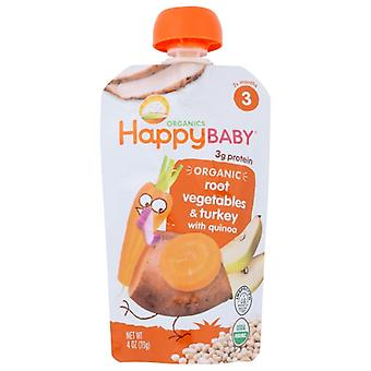 Happy Baby Stage3 Gobble Gobble Org, Case of 16 X 4 Oz