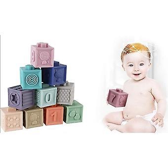 Τα μαλακά δομικά στοιχεία μωρών θέτουν τις αισθήσεις κολύμβησης παιχνίδι αφής χεριών που εκπαιδεύουν το μωρό χεριών