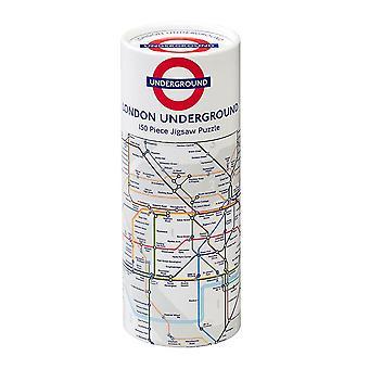 Gibsons TFL Lontoon maanalainen kartta palapeli (150 kappaletta) sisään Lahja putki
