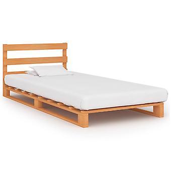 vidaXL pallet bed Brown solid wood pine 100×200 cm