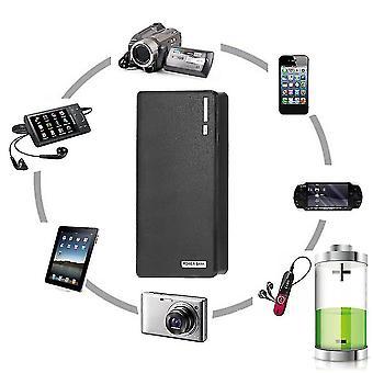 50000mah externe powerbank back-up led dual usb batterijlader voor mobiele telefoon