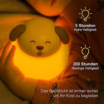 Child Night Light, Baby Night Light With Touch Switch, Timer Color Temperature 1h 1800-6500k, Led Night Light,(puppy)