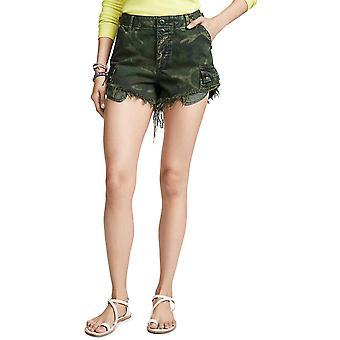 Fria människor Kvinnors Befälhavare Cutoff Camo Shorts