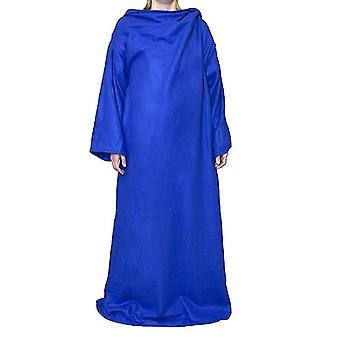 Blanket with sleeves, blue