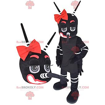 Maskottchen REDBROKOLY.COM riesigen schwarzen und roten Moskitos