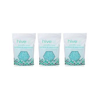 Hive Of Beauty 3 Para 2 Árbol de Té Parafina Tratamiento Térmico Cera - 700g Pellets