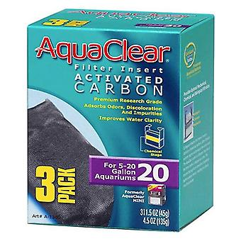 Aquaclear Activated Carbon Filter Inserts - Size 20 - 3 count