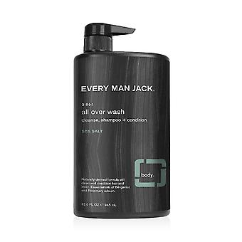 Every man jack 3 in 1 sea salt all over wash, 32 oz