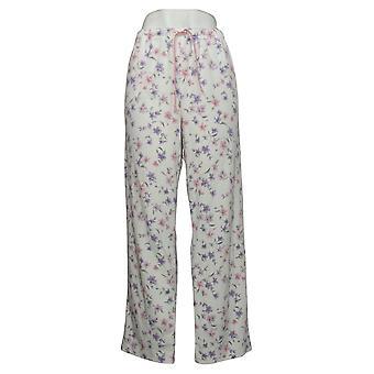 Aria Women's Cozy Brushed Waffle White Pajama Pants 631033