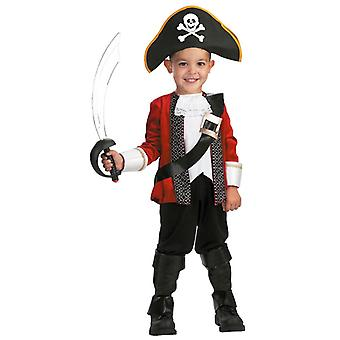 El Captain Pirate Captain Hook Story Book Week Deluxe Dress Up Boys Costume S