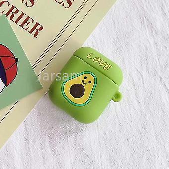 Leuke cartoon 3d siliconen oortelefoon hoesjes voor airpods 1 2 (Smallavocado)