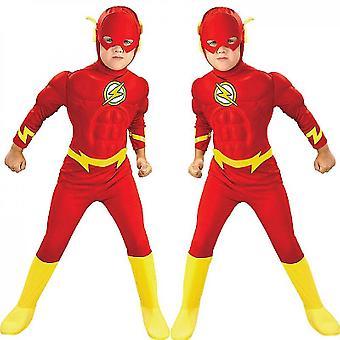 Children's Flash Cosplay Costume,children's Cosplay Tights
