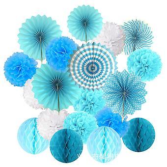 Carta decorativa Fiore Finestra Soffitto Palla a nido d'ape Carta Ventilatore Set di fiori Festa di nozze Decorazione di compleanno