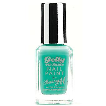 Barry M Gelly Hi Shine Nail Paint - Green Berry