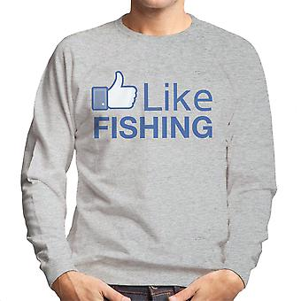 Like Fishing Facebook Men's Sweatshirt