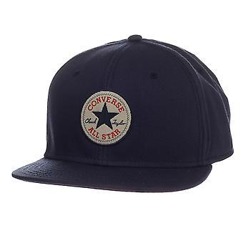Converse Flat Peak Snapback Baseball Cap ~ Core navy