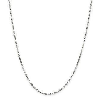 925 Sterling Silver Oval Polished Chain Necklace 2.25mm Lobster Claw Jewelry Gifts for Women - Length: 16 to 30