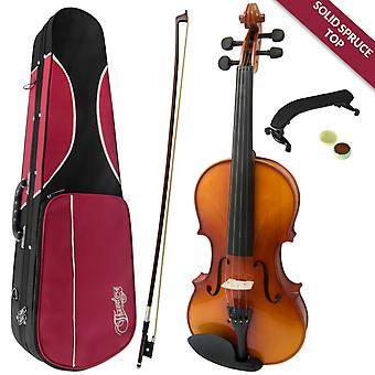 Configuración de violín Theodore Student - principiantes 1/4 tapa de abeto sólido de tamaño