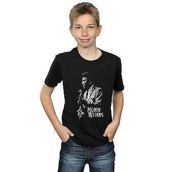 Muddy Waters Boys Mono Distressed T-Shirt