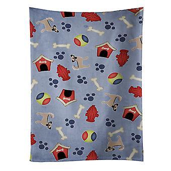 Dog House kolekcja długowłose Chihuahua Tan czarny Ręcznik kuchenny #2