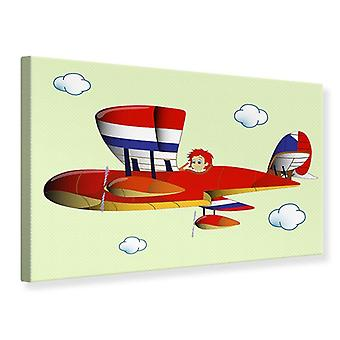 Canvas Print de vliegende jongen