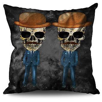Cuscino morto scheletro vestito lino 30 x 30 cm | Wellcoda