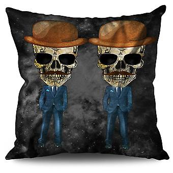 Dead Skeleton Suit Linen Cushion 30cm x 30cm | Wellcoda