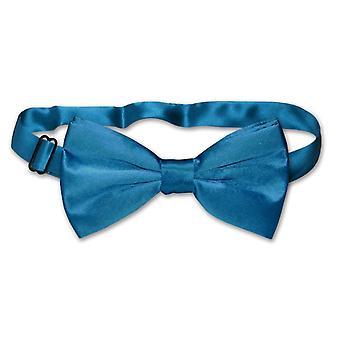 100% SILK BOWTIE Solid Men's Bow Tie for Tuxedo or Suit